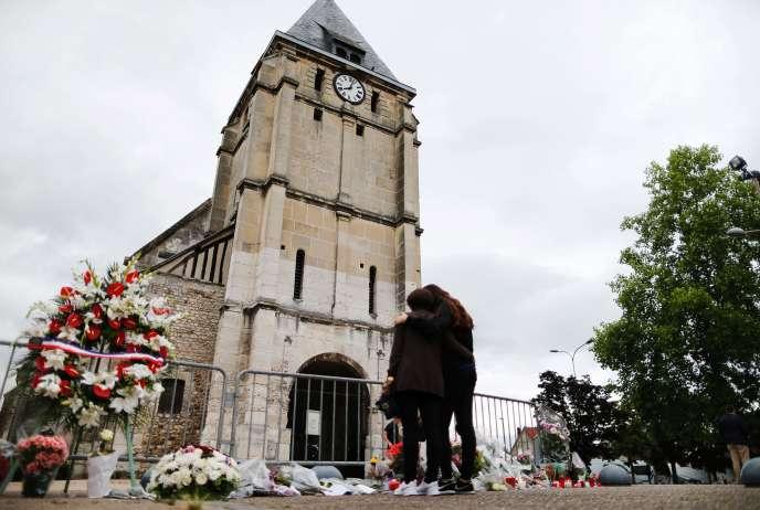 L'église deSaint-Etienne-du-Rouvray (Seine-Maritime), où le père Hamel fut assassiné le26 juillet 2016.