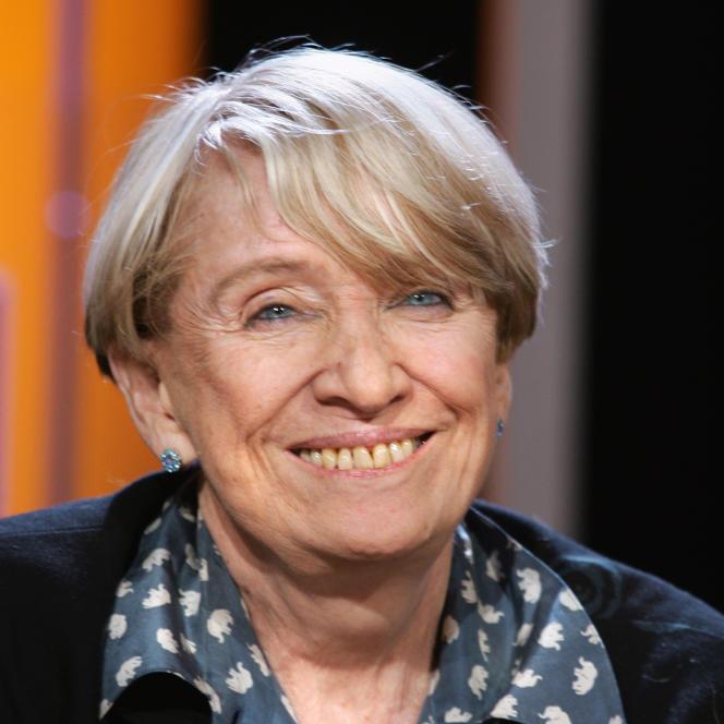 La romancière Françoise Mallet-Joris, le 11 janvier 2005, sur le plateau de l'émission littéraire de TF1 «Vol de nuit».