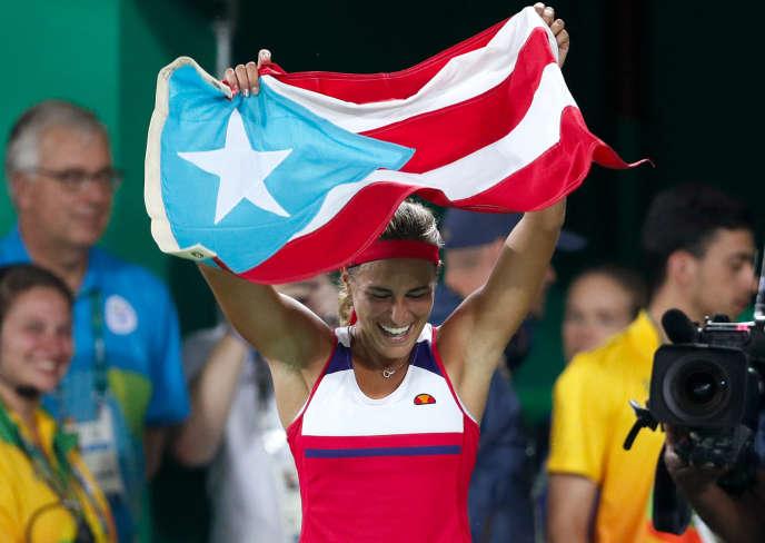 La joueuse porto-ricaine Monica Puig, le 13 août à Rio.