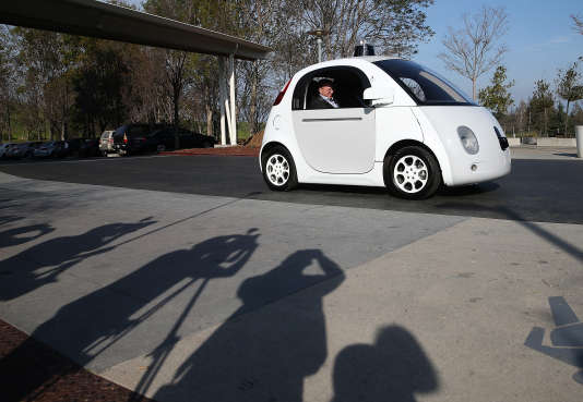 Présentation de la voiture autonome Google àMountain View (California) le 2 février 2015.