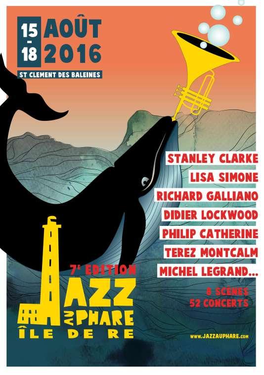 L'affiche du festival Jazz au phare à l'île de Ré.