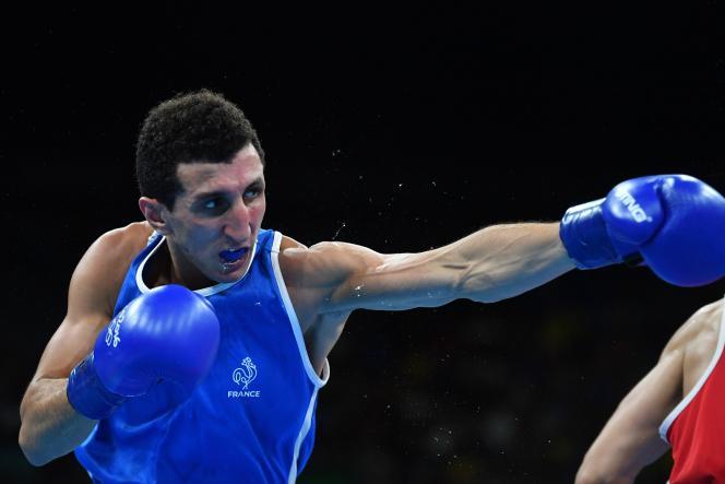 Sofiane Oumih, ici lors du tournoi des Jeux olympiques de Rio, en 2016.
