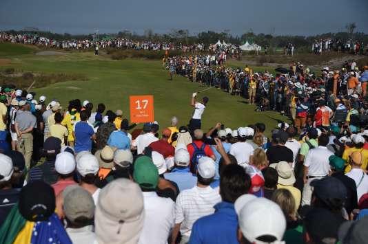 Le golfeur britannique Justin Rose, à Rio de Janeiro, le 14août.