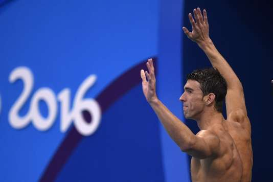Michael Phelps, le 13 août à Rio.