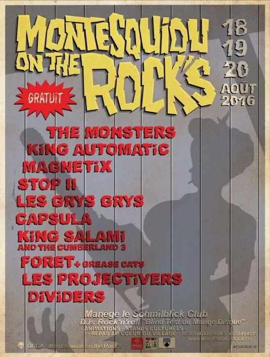 L'affiche du festivalMontesquiou On The Rocks, à Montesquiou.