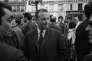 Georges Séguy, secrétaire général de la Confédération générale du travail (CGT), lors d'une manifestation d'étudiants et une grève générale, le 29 mai, pendant les événements de Mai-68.