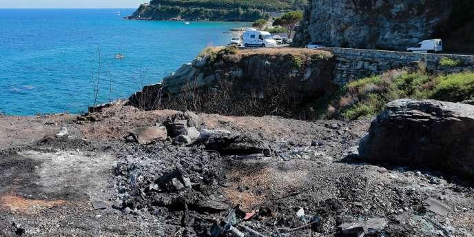 La crique à Sisco où a eu lieu la rixe du 13 août, à quelques kilomètres de Bastia (Corse).