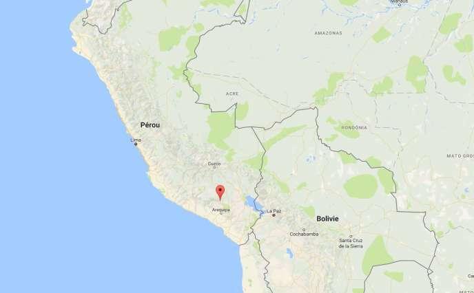Selon l'institut de géophysique du Pérou, l'épicentre du séisme était situé à dix kilomètres de Chivay, capitale de la province de Caylloma.