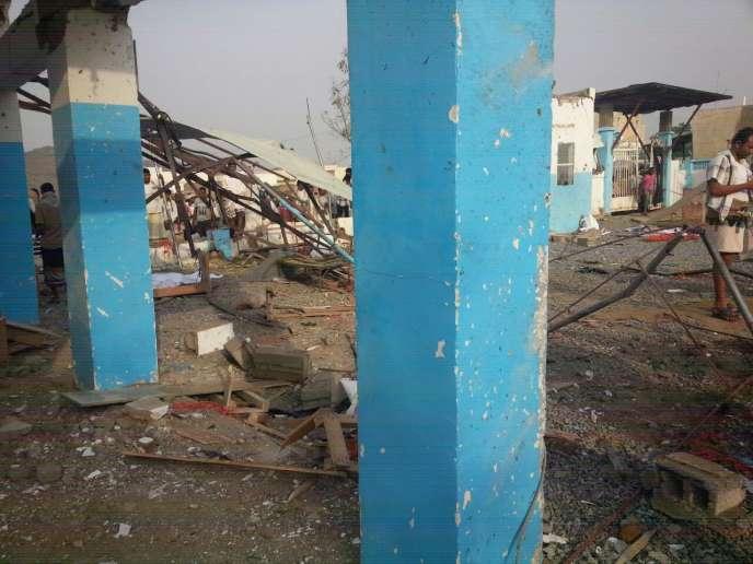 L'hôpital de Médecins sans frontières àAbs (Yémen) a été bombardé le 15 août.