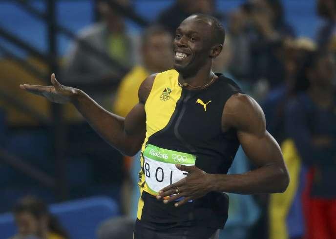 Malgré un départ moins rapide que Justin Gatlin, Usain Bolt a conservé son titre olympique du 100 m dimanche à Rio.