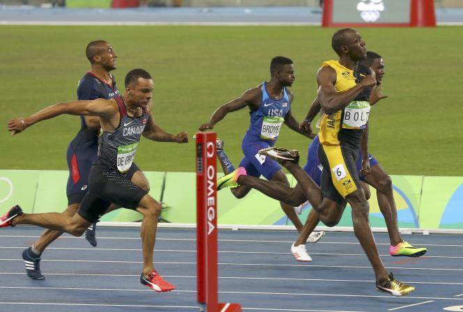 La marge du Jamaïcain a été impressionnante sur la piste bleue du stade olympique de Rio.