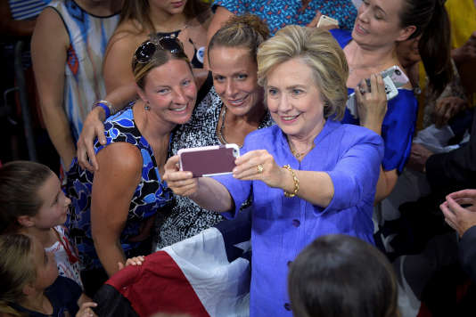 Hillary Clinton à Scranton (Pennsylvanie), le 15 août 2016.