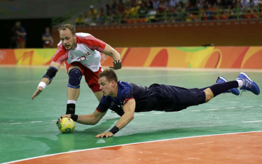 Kentin Mahé face au Danemark, le 16 août à Rio.
