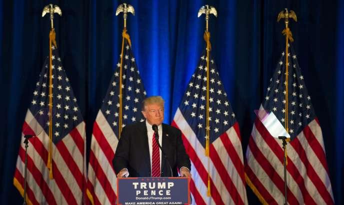 Le candidat républicain à l'élection présidentielle du 8 novembre, Donald Trump, lors de son discours à Youngstown (Ohio), le 15 août.