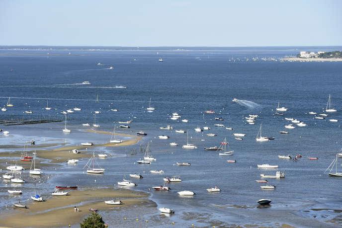 Le bassin d'Arcachon à marée basse, le 15 juillet.
