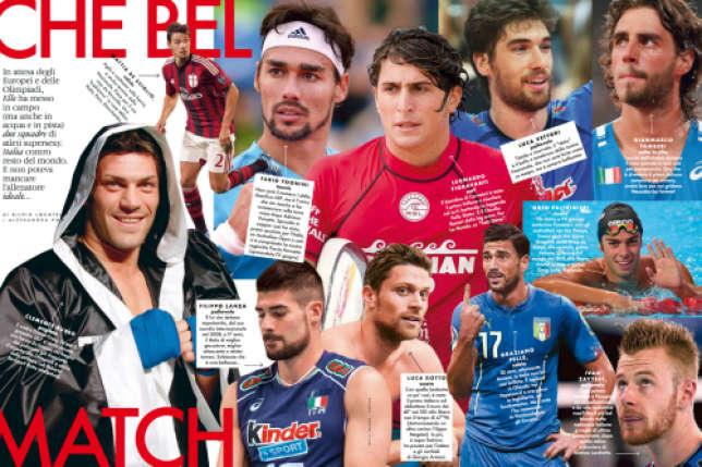 Les athlètes olympiques les plus sexy selon le «Elle» Italie.