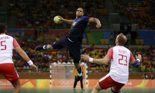 Daniel Narcisse a rayonné contre le Danemark, lundi 15 août à Rio.