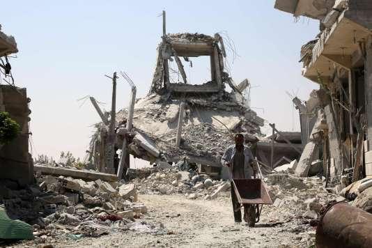 A Manbij, le 14 août.