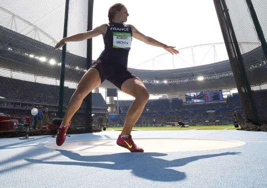 Lyonnaise de 38 ans, Mélina Robert-Michon s'est imposée comme l'une des têtes d'affiche de l'athlétisme français