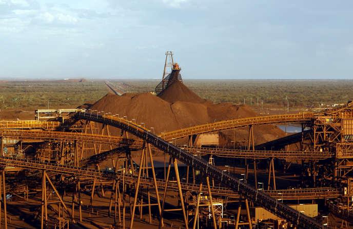 Une mine de fer à Port Hedland, dans l'ouest de l'Australie, en novembre 2015.