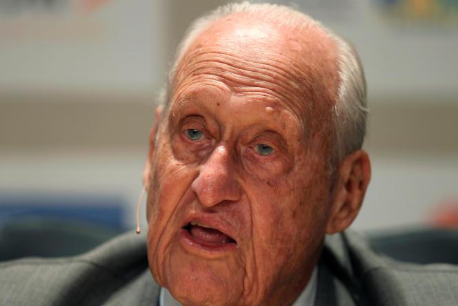 Joao Havelange, en 2010.L'ancien président de la FIFA (1974-1998) est mort mardi 16 août, à l'âge de 100 ans.