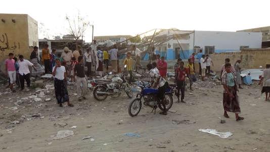 Le bombardement de l'hôpital à Abs, le 15 août, par la coalition arabe a fait 14 morts.