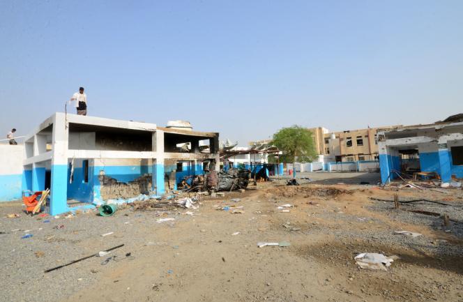 L'hôpital de Abs, au Yemen, était géré par l'association Médecins sans frontières. Ila été la cible d'un raid aérien qui a fait 19 morts et 24 blessés, le 15 août.AFP / STRINGER