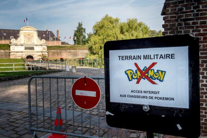Les installations militaires telles que la citadelle à Lille défendent aux« chasseurs de Pokemon» d'y pénétrer.