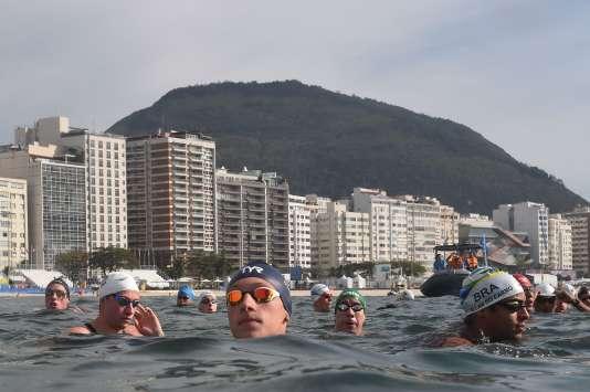 Marc-Antoine Olivier (bonnet bleu, au centre) a décroché le bronze à Rio.