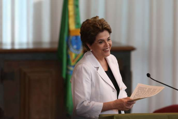 Dilma Rousseff, le 16 août à Brasilia.