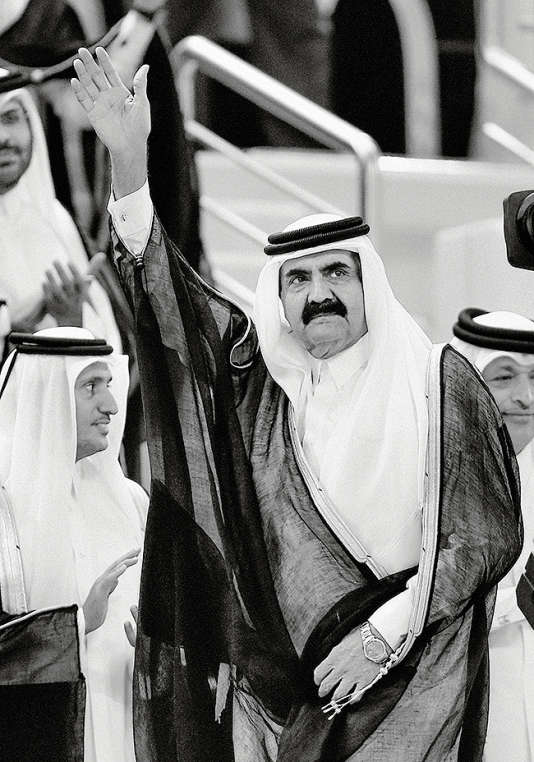 L'émir du QatarHamad Ben Khalifa al-Thani, à Doha en mai 2013.
