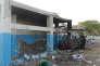 Un hôpital bombardé lundi par la coalition arabe au Yémen.