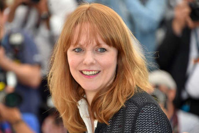 La réalisatrice allemande Maren Ade lors de la projection de son film « Toni Erdmann» au 69e Festival de Cannes, le 14 mai 2016.