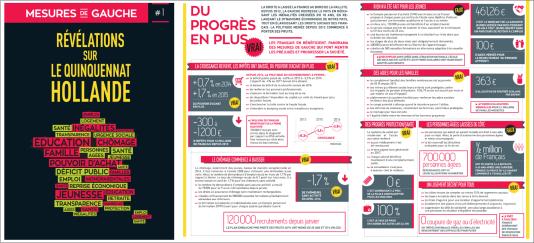 Le tract du PS, «révélations sur le quinquennat Hollande».