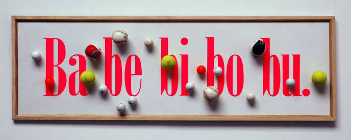 « Ba be bi bo bu » (1993), du collectif Taroop & Glabel.