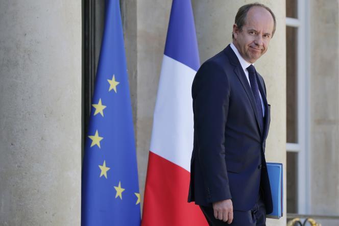 Jean-Jacques Urvoas le 17 août à la sortie de l'Elysée.