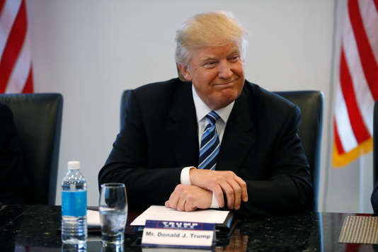 Donald Trump, lors d'une réunion de campagne, le 17 août à New York.