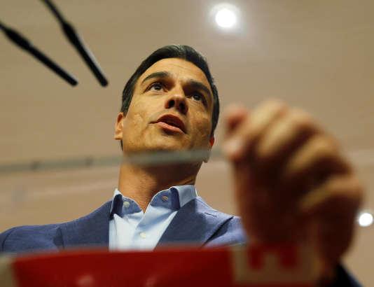 Le leader du PSOE Pedro Sanchez, le 17 août.