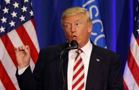 Donald Trump, lors d'un meeting,le 16août, dans le Wisconsin.