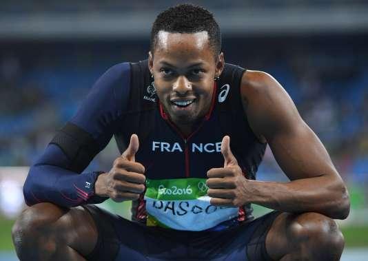 Dimitri Bascou, médaillé de bronze du 110 m haies au stade olympique de Rio le mardi 16 août.