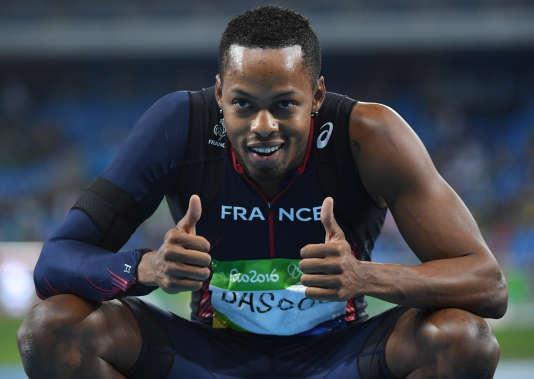 Dimitri Bascou, médaillé de bronze au 110 m haies le 16 août aux JO de Rio.