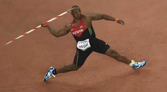 Julius Yego, sacré champion du monde de javelot à Pékin,en août2015.