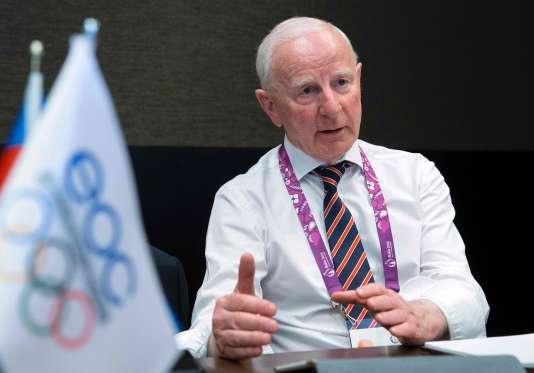 Patrick Hickey, à Bakou (Azerbaïdjan) lors des premiers Jeux européens, en 2015.