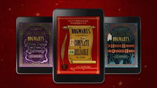 Les trois recueils de nouvelles se déroulant dans l'univers de Harry Potter sont rassemblés sous la bannière« Pottermore presents».