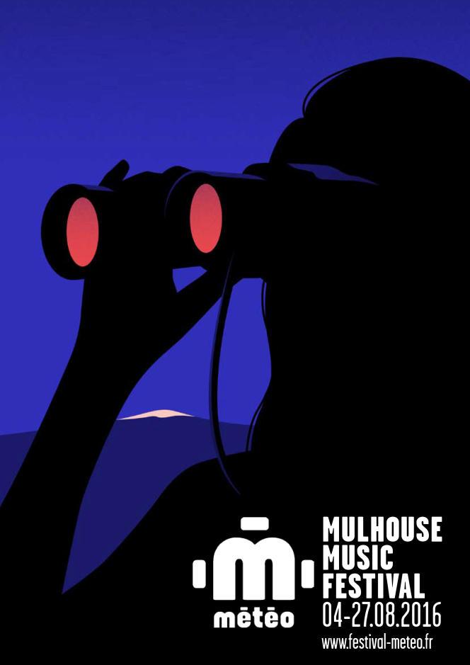 L'affiche du festival Météo, Mulhouse Music Festival.