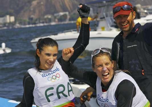 Helene Defrance etCamille Lecointre, le 18 août à Rio.