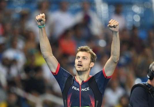 Christophe Lemaître après sa qualification pour la finale du 200 m, le 17 août.