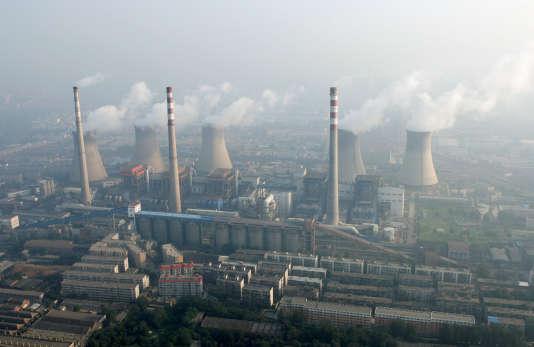Une centrale à charbon près de Zhengzhou, ville de2,5millions d'habitants entreShanghaÏ etPékin.