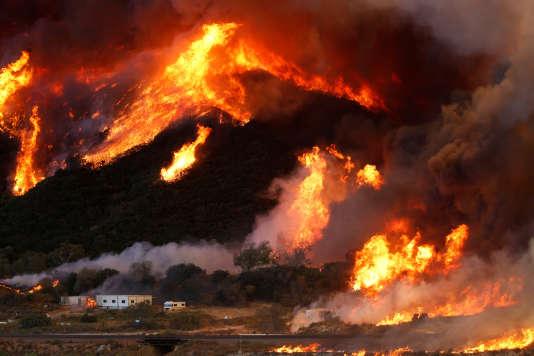 Incendies dans le comté de San Bernardino, en Californie, le 17 août.