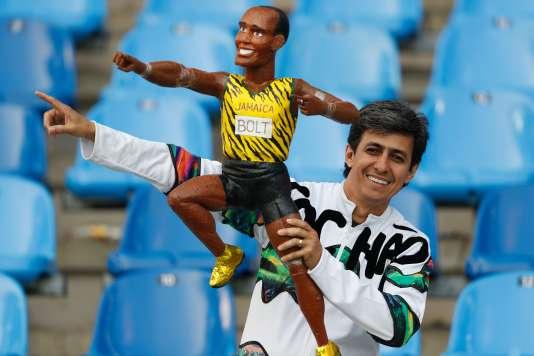 Le dentiste Lucio Monteiro est le fan brésilien d'Usain Bolt le plus connu.